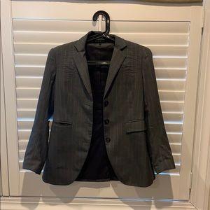 Theory pinstripe dark grey blazer in size 6